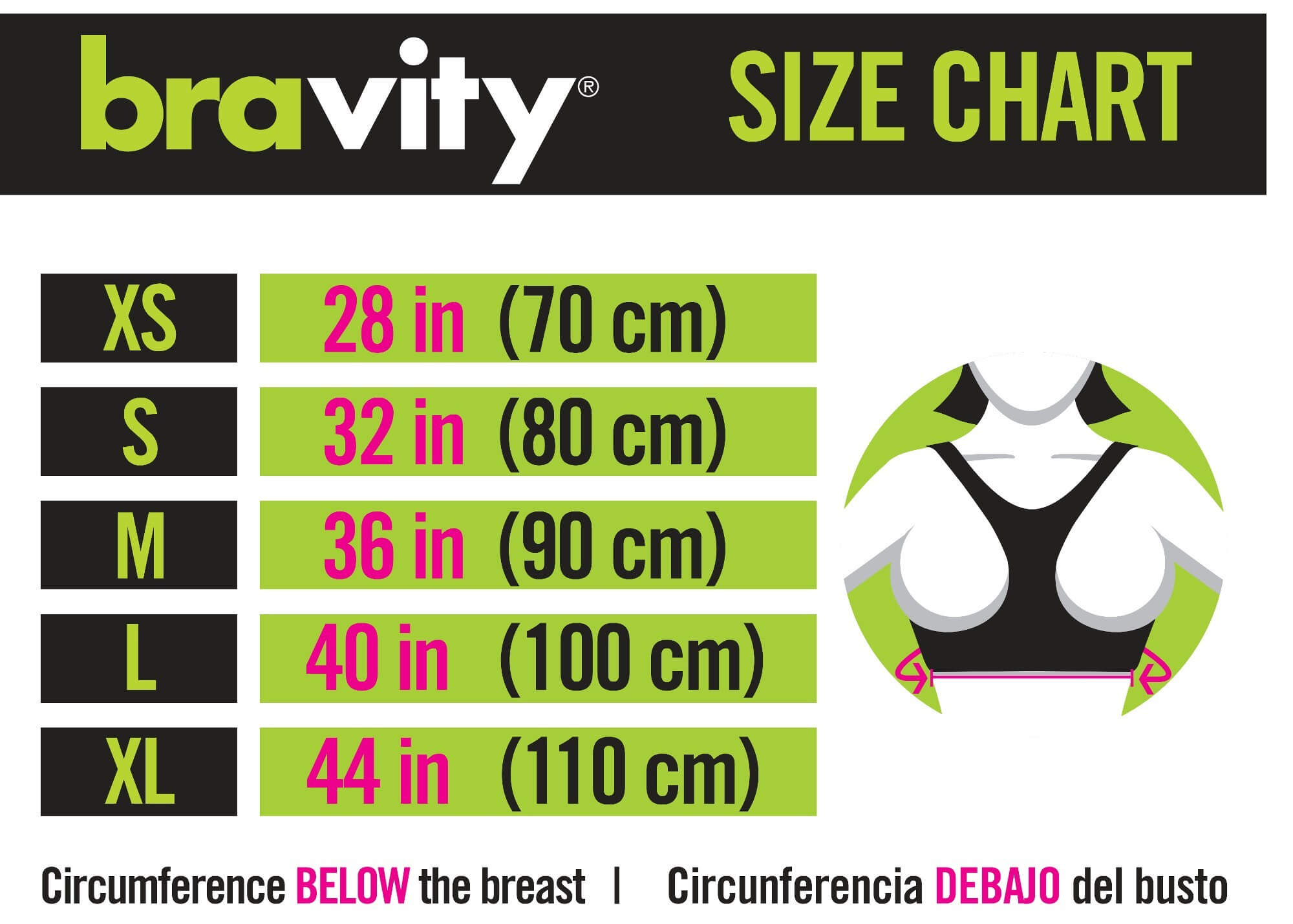 bravity sizes